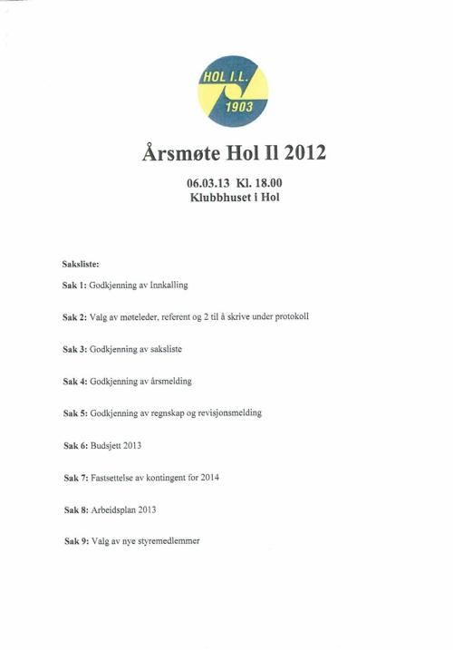 Årsmøtet 2013
