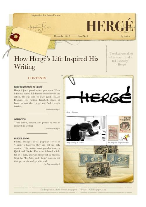 Hergé - Non-Fiction Article