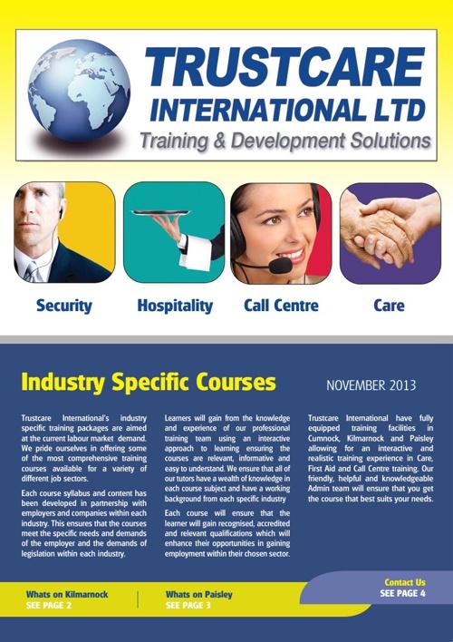 Trustcare International Ltd Newsletter November 2013