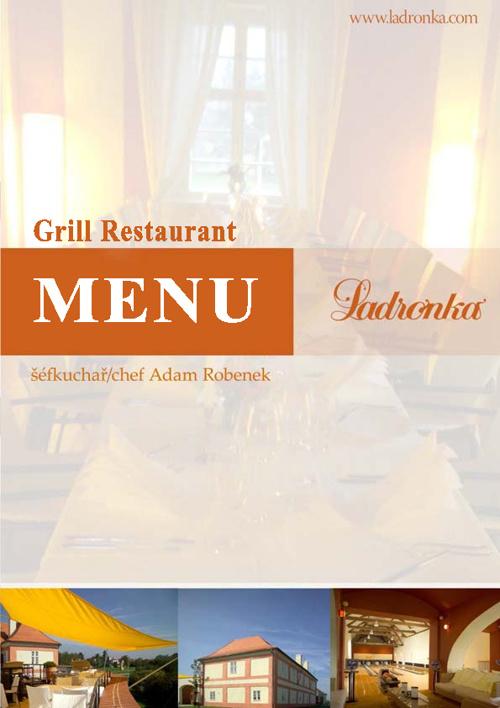 Grill restaurant - menu