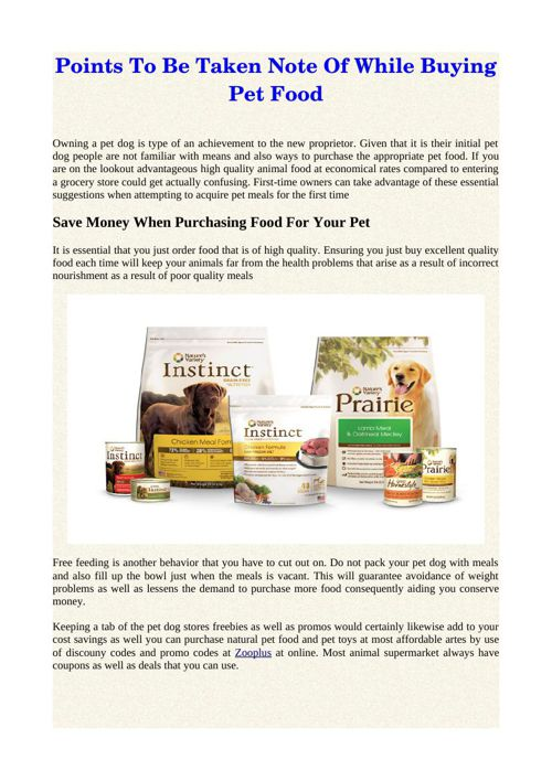 Points To Be Taken Note Of While Buying Pet Food
