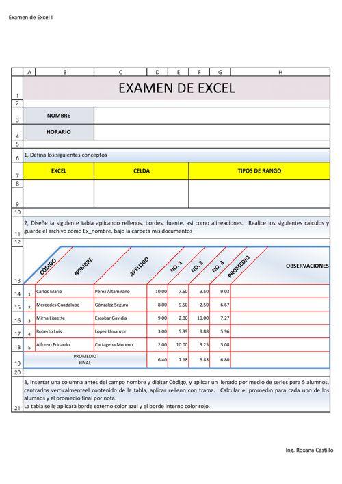 PRACTICA 2 FORMATOS Evaluación