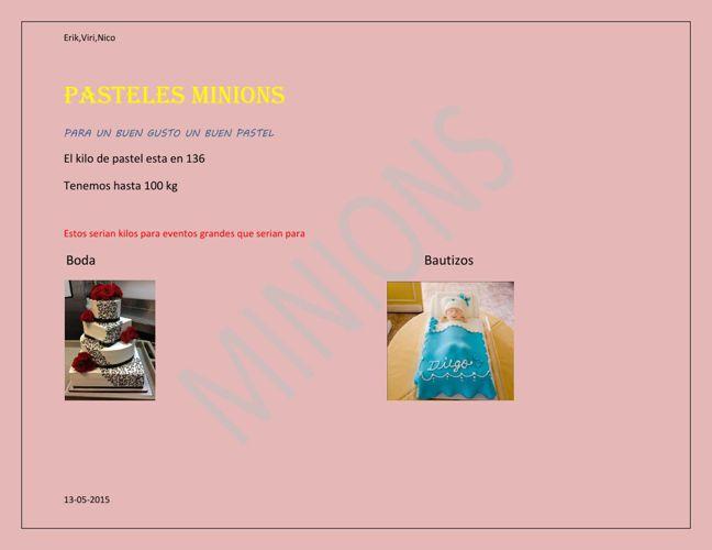 Pasteles-Minion