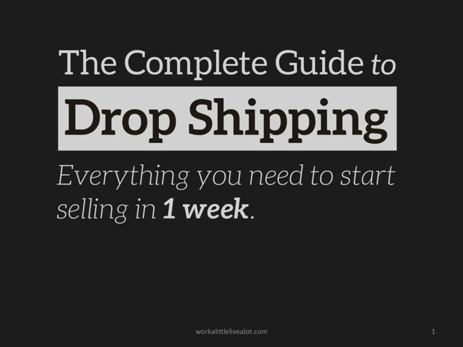 Copy of The Complete Guide to Dropshipping