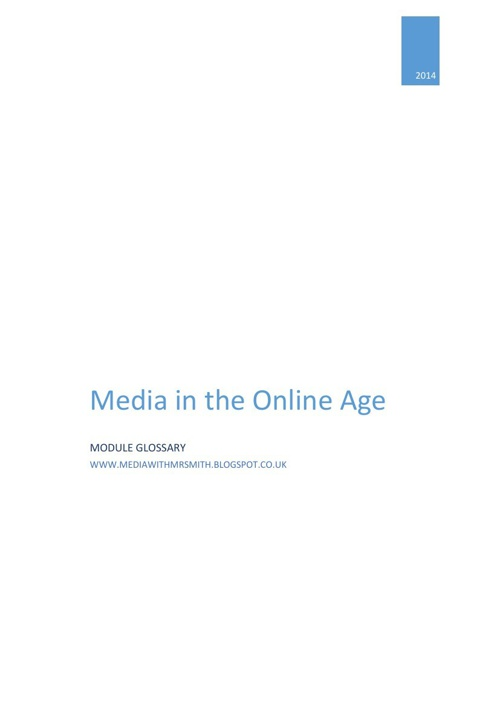 G325bMedia in the Online Age Glossary
