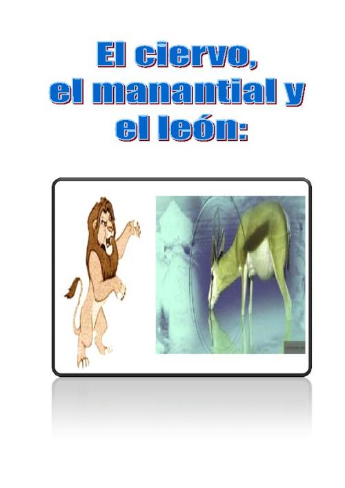 El cierbo, el mantial y el leon