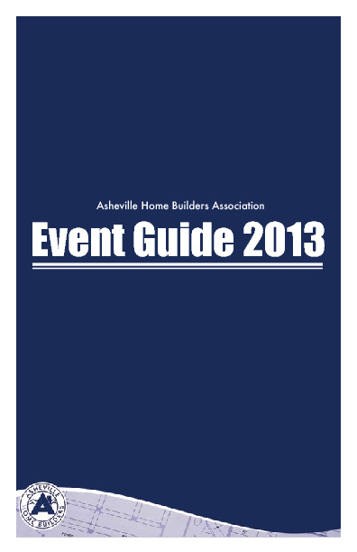 AHBA Event Guide 2013