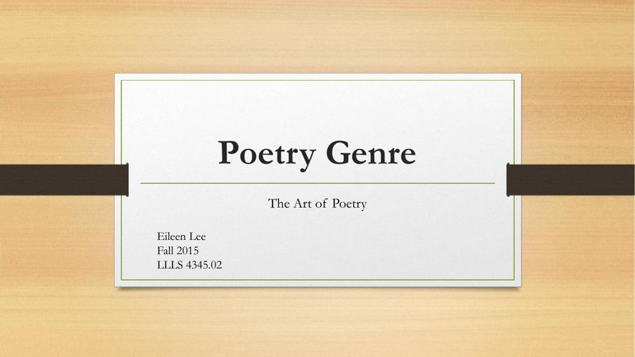 Poetry Genre