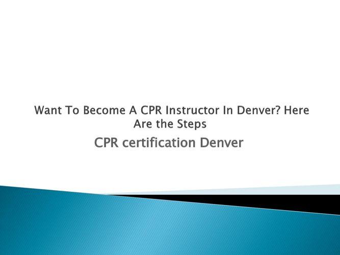 CPR certification Denver