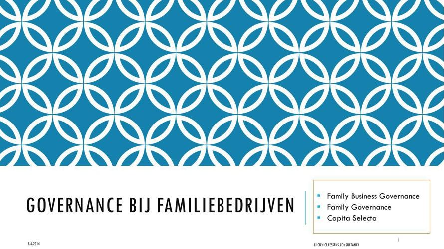 Governance bij familiebedrijven