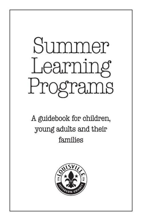 Louisville Metro Summer Youth Programs