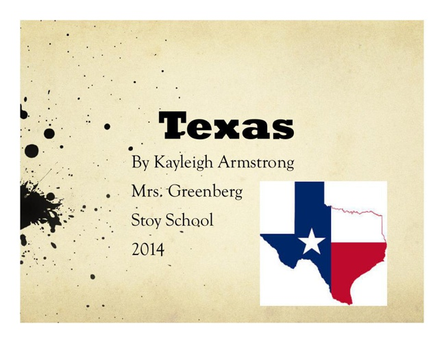 Kayleigh Texas presentation