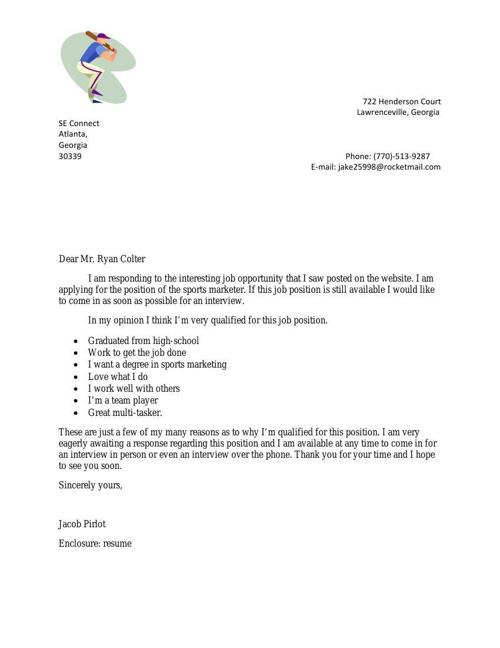 Pirlot Cover Letter