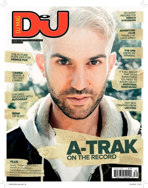 A-Trak DJ Mag USA January 2017