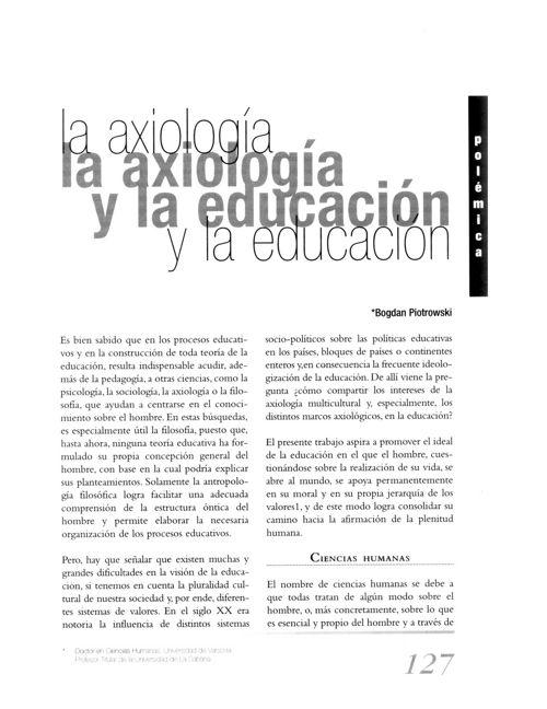 Dialnet-LaAxiologiaYLaEducacion