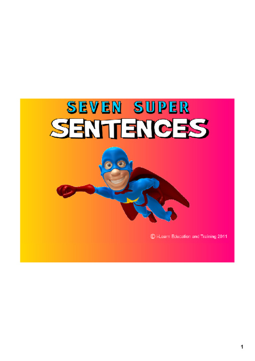 7 super sentences