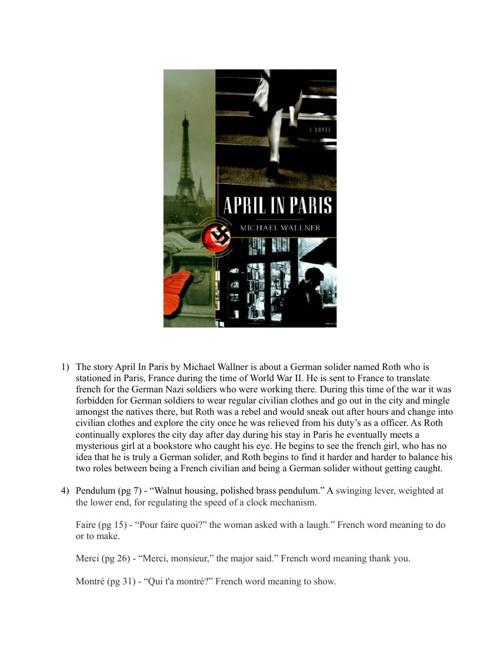 PPP Unit 2 Historical Fiction Book