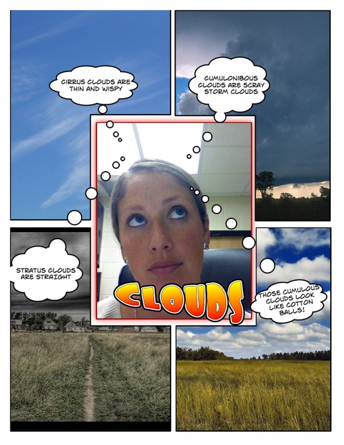 Types of Clouds Comic Life Project