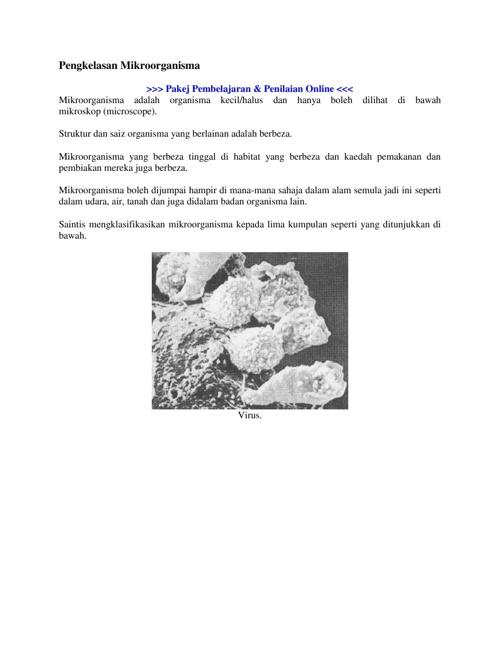 pengelasan mikroorganisma