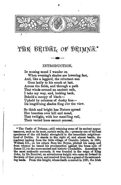 Bridal of Drimna