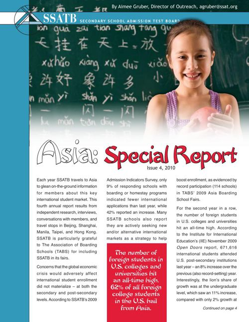Asia: Special Report 2010
