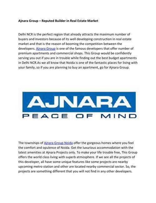 Ajanra Group housing developer