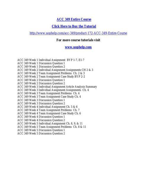 ACC 349 ACADEMIC COACH / UOPHELP