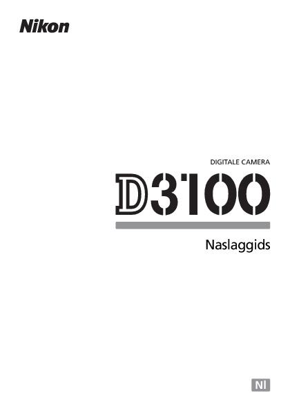 Nikon D3100 Naslaggids