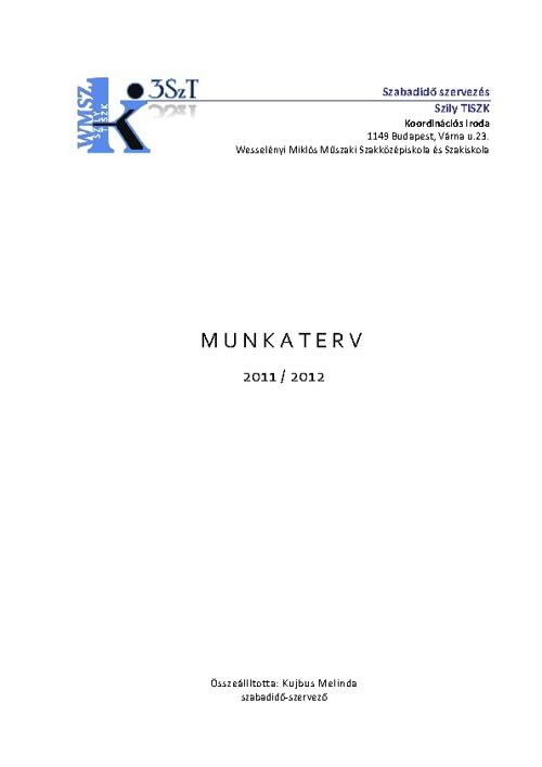 Munkaterv 2011/2012