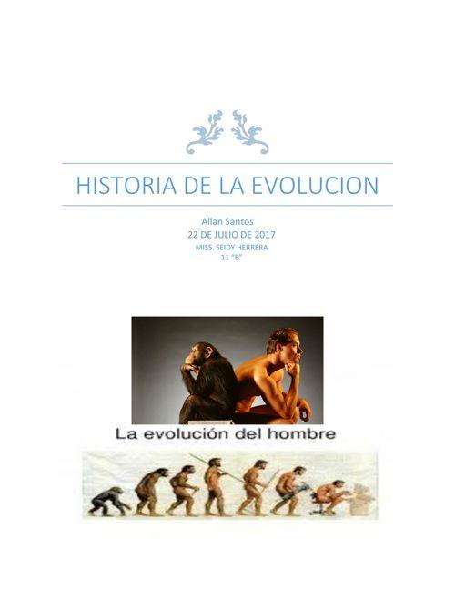 Revista-historia de la evolucion