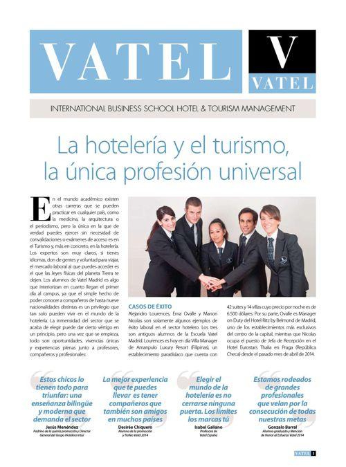 La hotelería y el turismo,la única profesión universal
