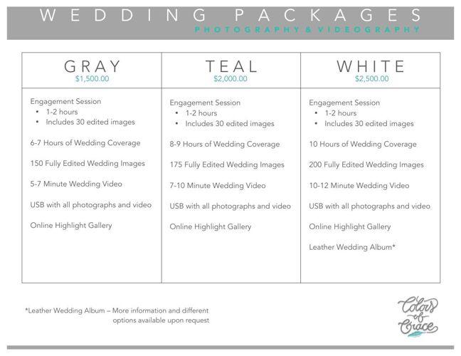 Colors of Grace - Weddings