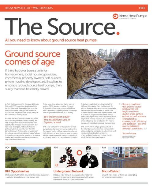 The Source (2014/15), Kensa Heat Pumps