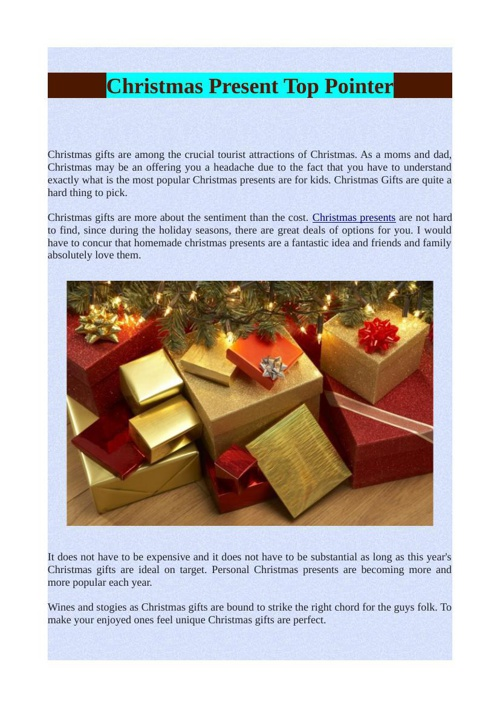 Christmas Present Top Pointer