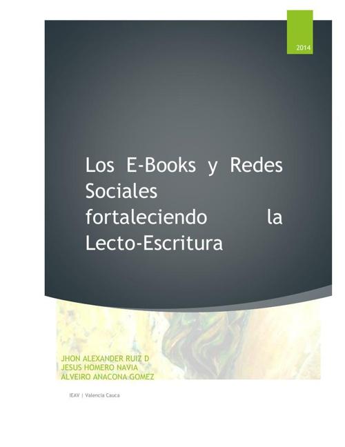 LOS E-BOOK EN EL FORTALCIMIENTO DE LA LECTOESRITURA (1)