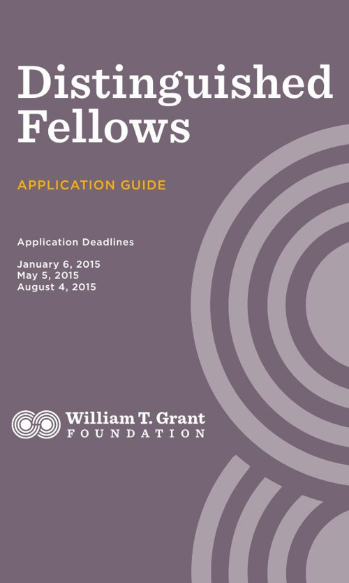 6 Distinguished Fellows Application Guide - Fall 2014