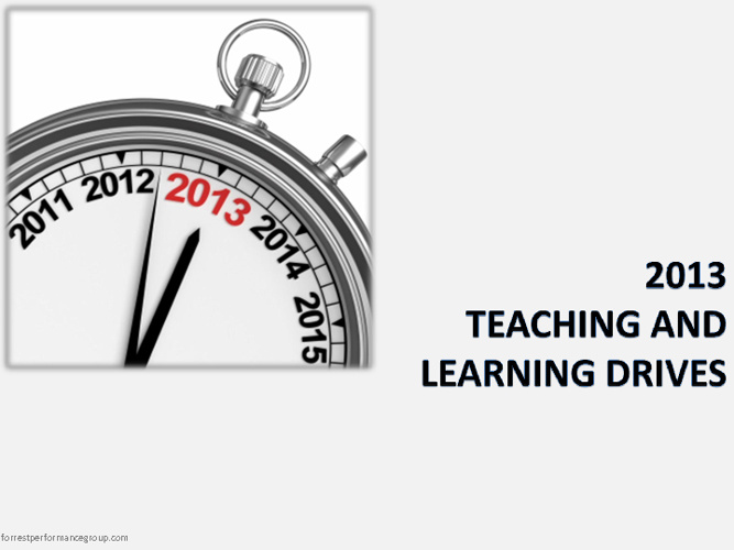 2013 Teaching and Learning Drives