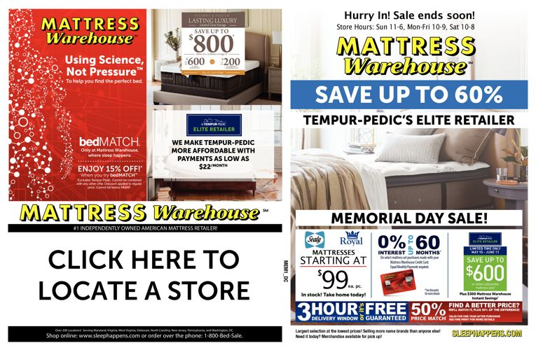 Mattress Warehouse Memorial Day Sale
