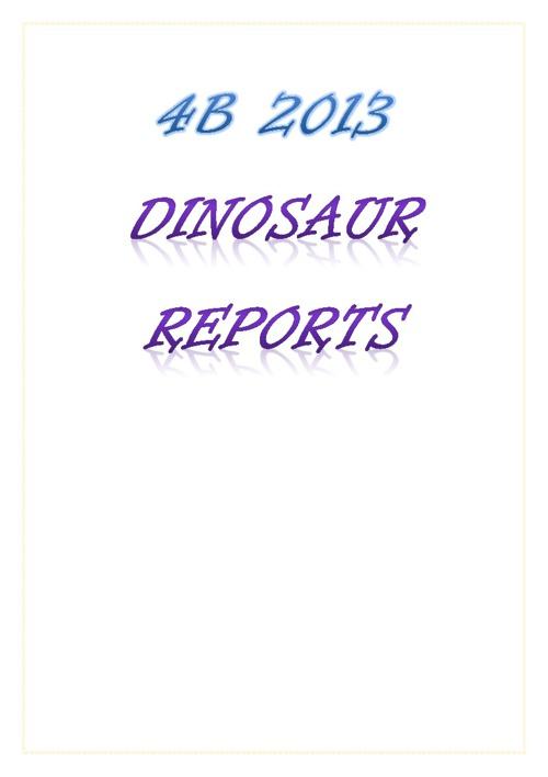 4B Dinosaurs
