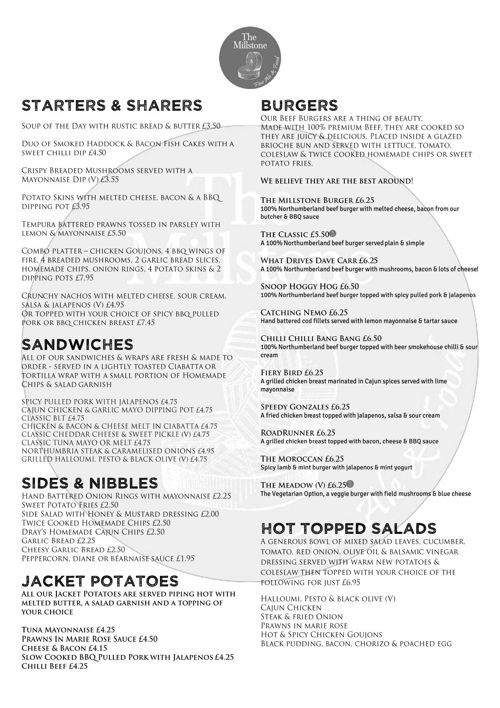 Millstone New Menu June 2015