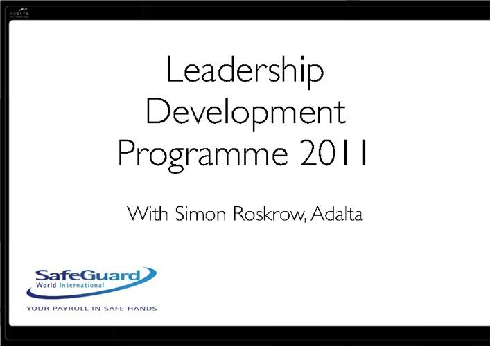 Personal Leadership Booklet