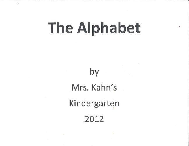 Mrs. Kahn's Alphabet Book