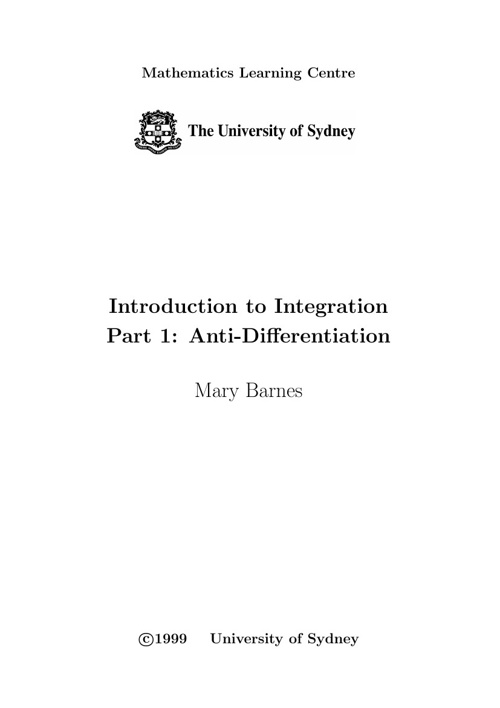 Intro to Integration part 1