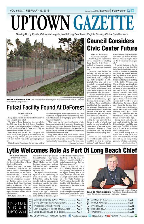 Uptown Gazette     February 15, 2013