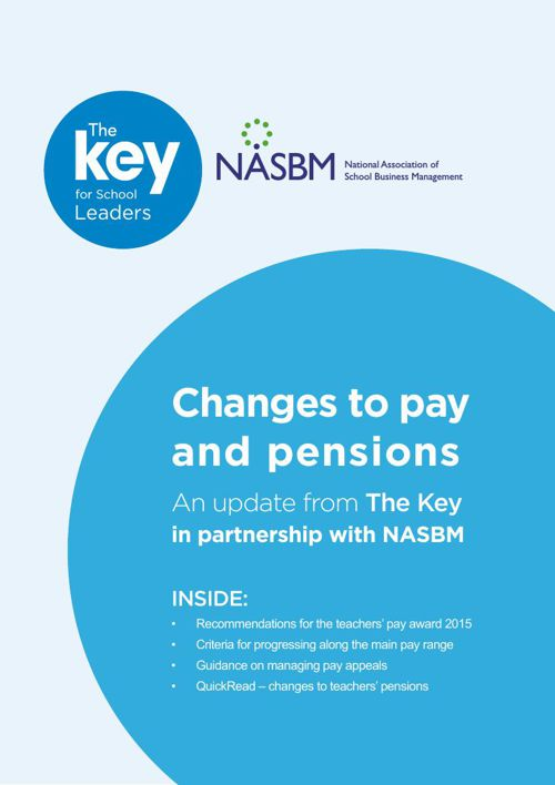Changes to pay and pensions