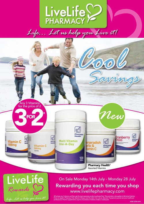 LiveLife Cool Savings July Catalogue