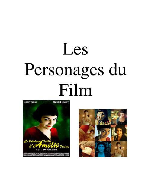 Les Personages Du Film