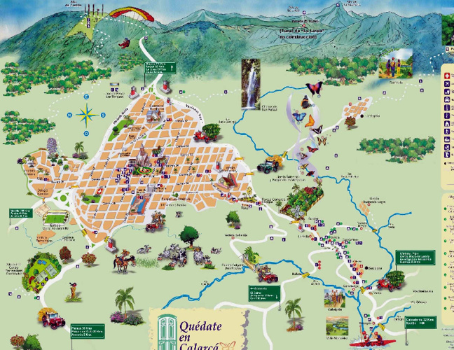 Mapa de Calarca - Quindio
