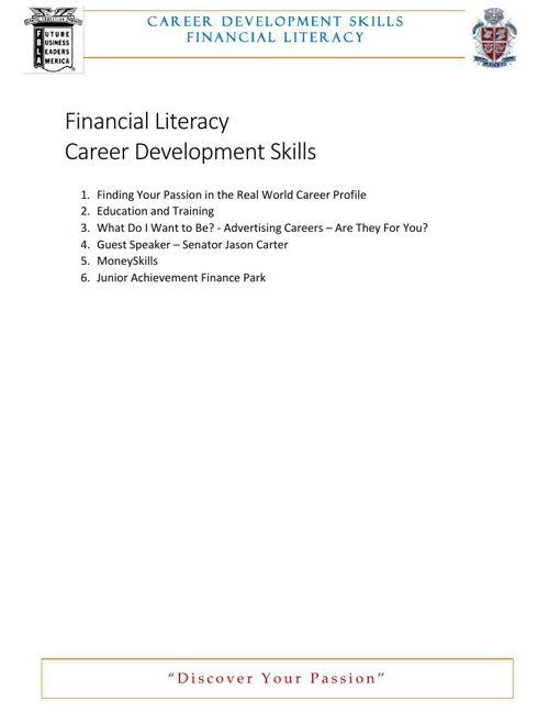 FL S4 9 Career Development Skills Activity Samples Revised March