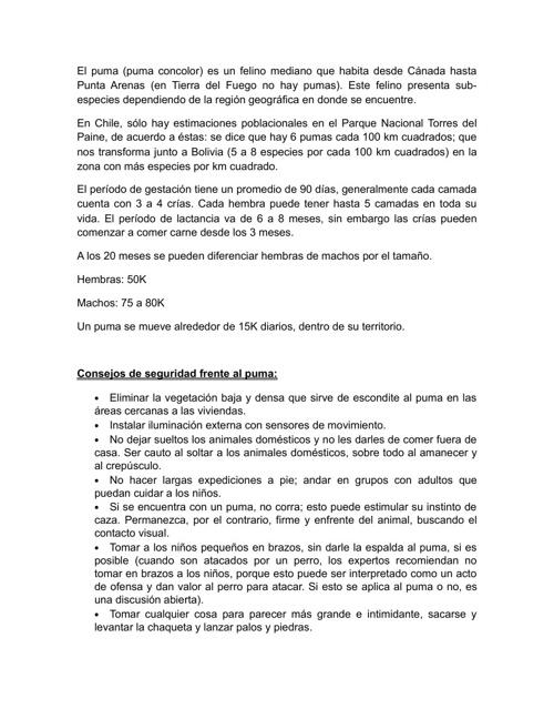 Charla sobre el Puma, a cargo de José Cabello Cabalín